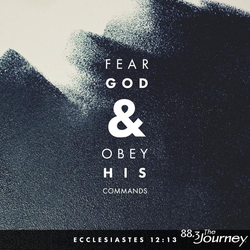 November 15th - Ecclesiastes 12:13