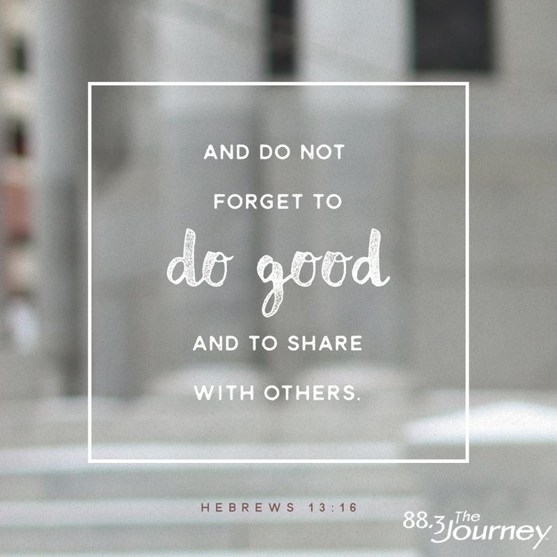 December 14th - Hebrews 13:16