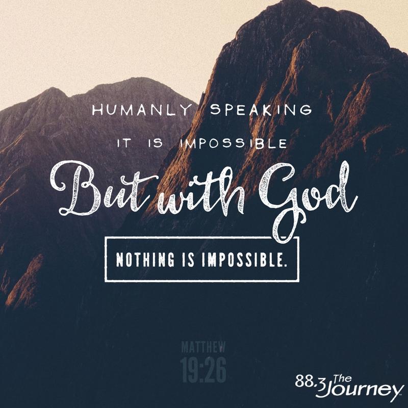 February 12th - Matthew 19:26