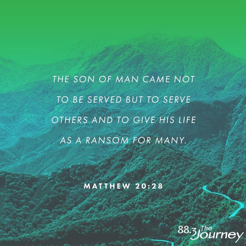 November 23rd - Matthew 20:28