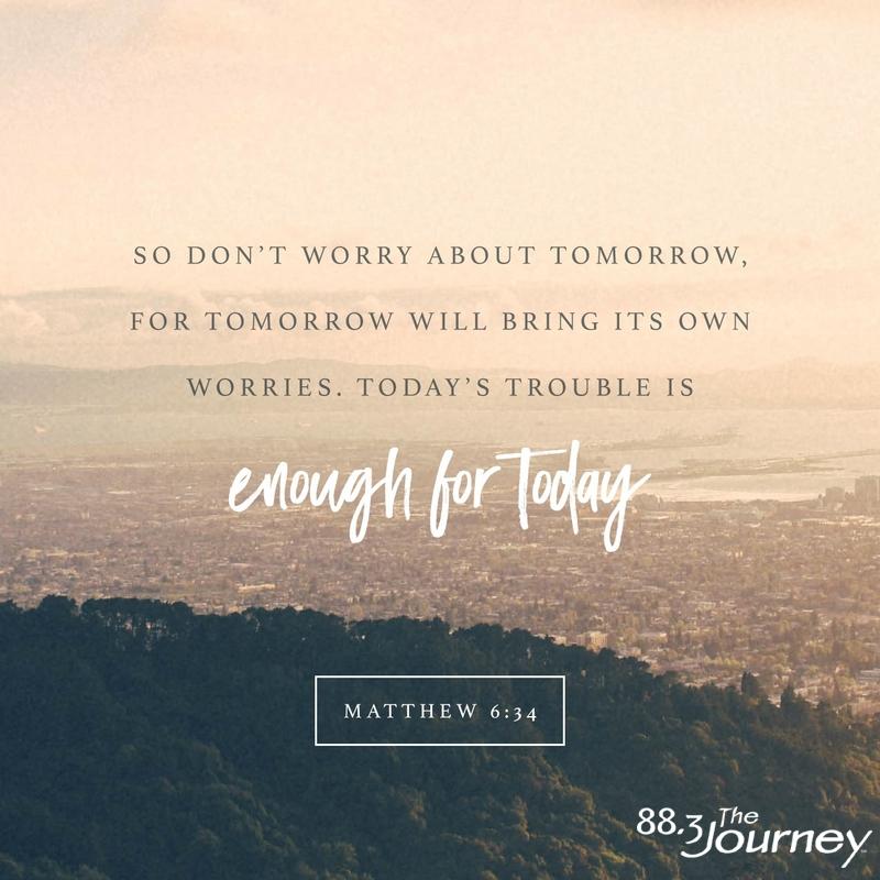 October 1st - Matthew 6:34