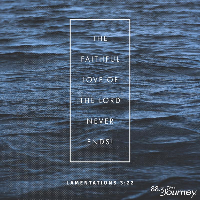 March 18th - Lamentations 3:22