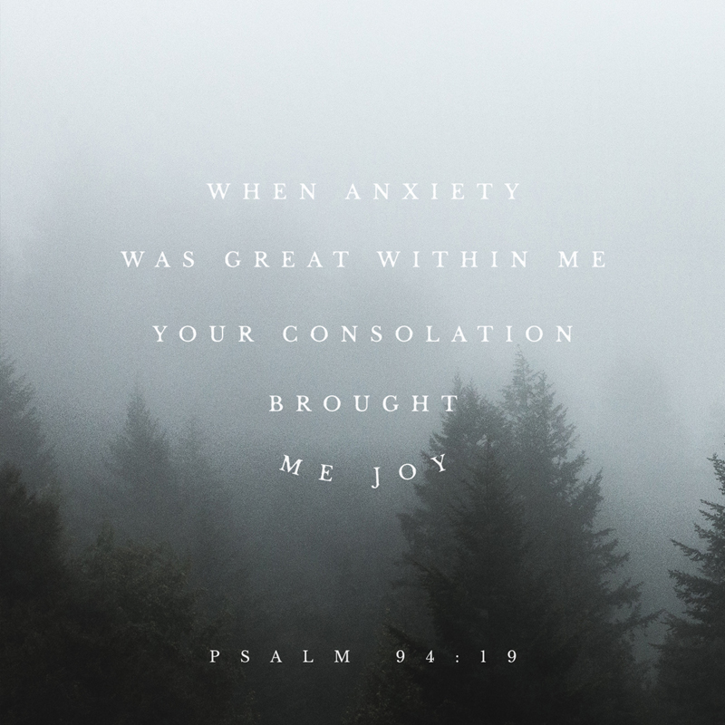 March 17th - Psalm 94:19