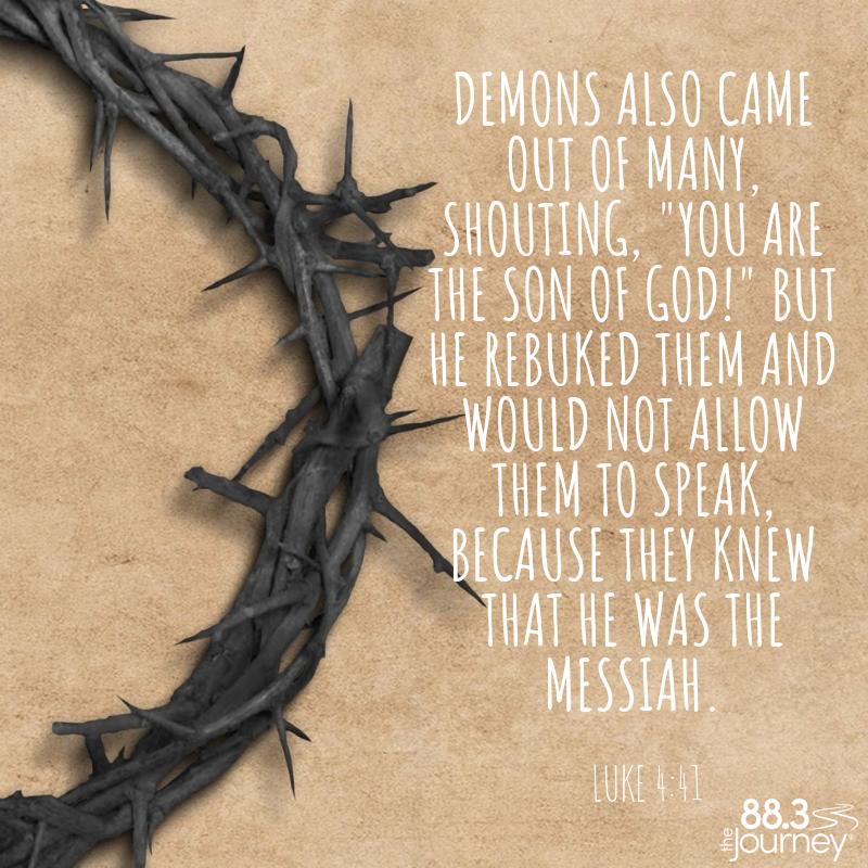 Luke 4:41